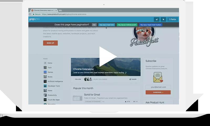 Grepsr | Web Scraping Service Platform