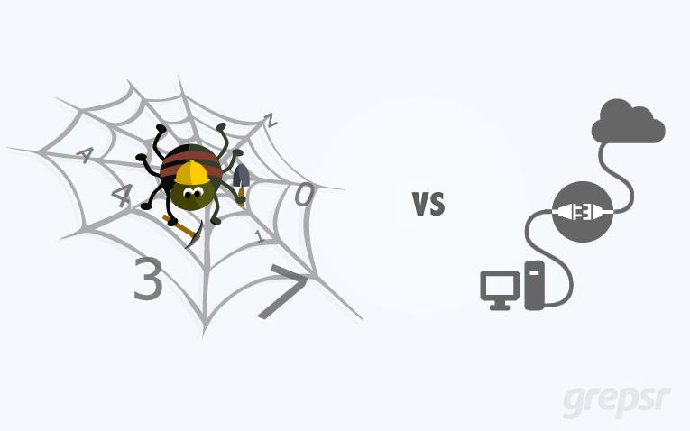 Web Scraping vs API - Web Data Extraction